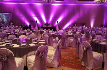 Special up lighting for your wedding