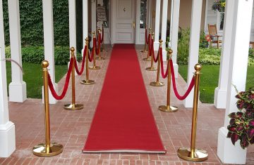 Red Carpet and Brass Stanchions